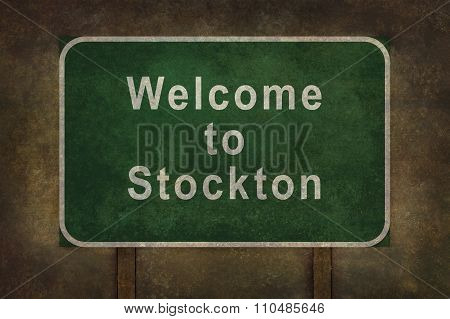 Welcome To Stockton, Roadside Sign Illustration