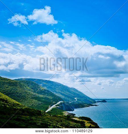 Scenic Road Cabot Trail Cape Breton Island Ns Canada