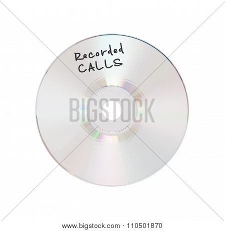 Cd Or Dvd Isolated