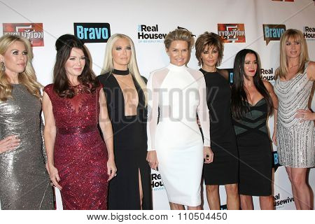 LOS ANGELES - DEC 3:  Cast at theThe Real Housewives of Beverly Hills Premiere Red Carpet 2015 at the W Hotel Hollywood on December 3, 2015 in Los Angeles, CA