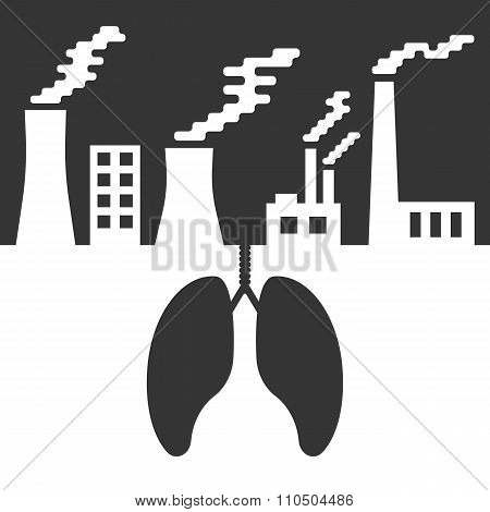 environmental issues with lungs and air pollution
