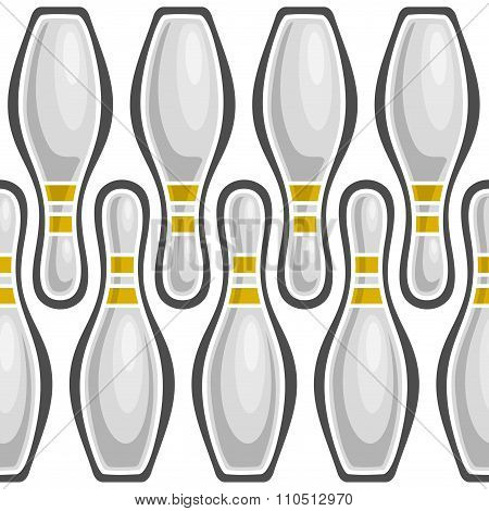 Abstract illustration on  the theme of bowling