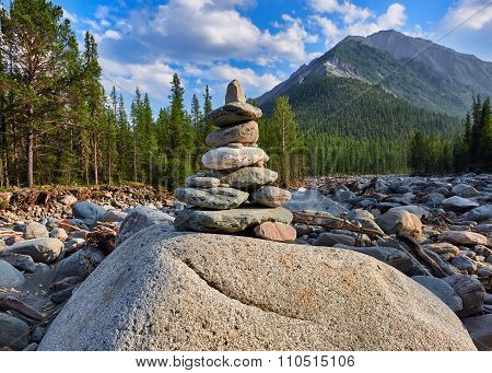 Cairn. Pyramid Of Stones
