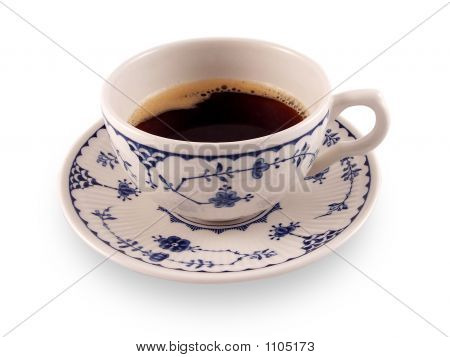 Bone China Coffee Cup With Black Coffee