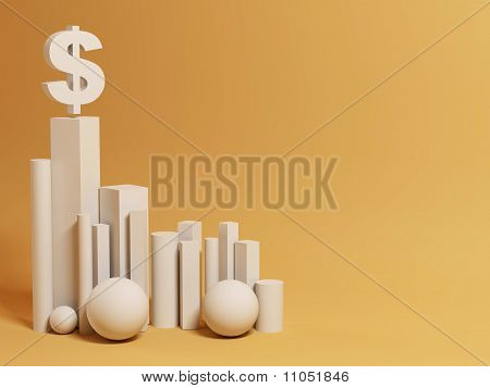 hegemony of the dollar. abstract background. 3d poster