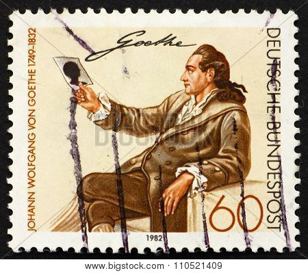 Postage Stamp Germany 1982 Johann Wolfgang Von Goethe