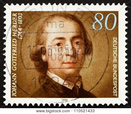 Postage Stamp Germany 1994 Johann Gottfried Herder
