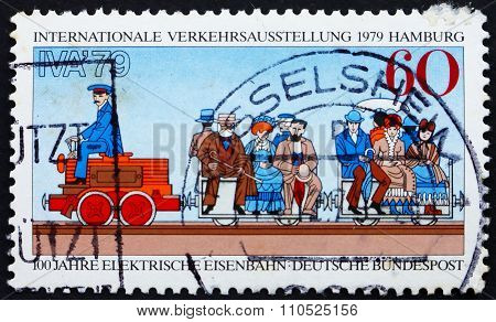 Postage Stamp Germany 1979 First Electric Train, 1879 Berlin Exh