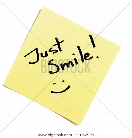 Sticky Note Just Smile!