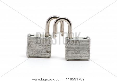 Two Isolated Silver Locks