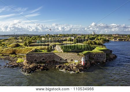 Suomenlinna Maritime Fortress On The Islands In The Harbour Of Helsinki