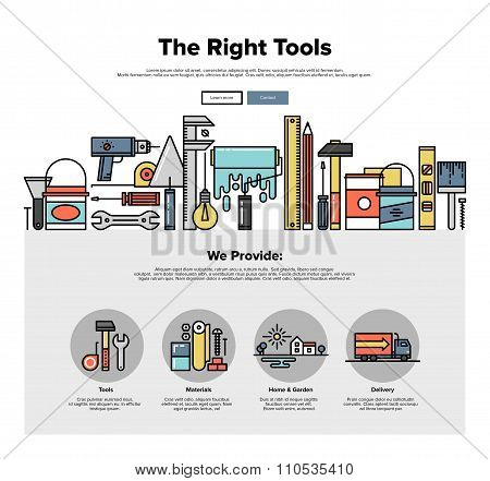 Tools Store Flat Line Web Graphics