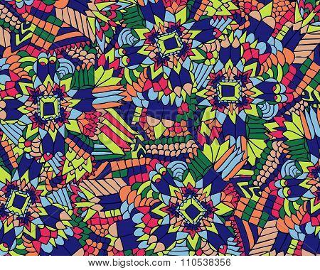 Zentangle Background Unuasual Colorful 1