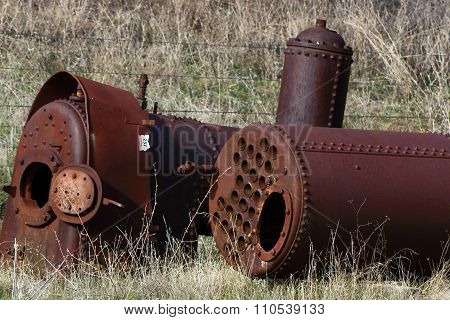 Two locomotive boilers