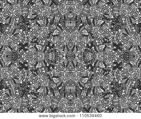 Zentangle Background Unuasual Grey 3