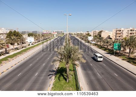Al Ghous Highway In Muharraq, Bahrain