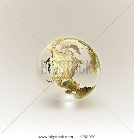 Golden Globe (global y comunicación concepto)