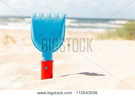 Rake at the Beach on a Sunny day