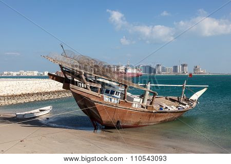 Traditional Fishing Dhow In Bahrain