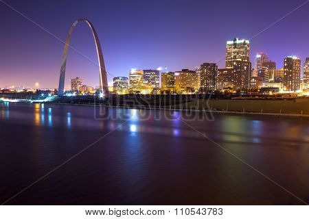 St. Louis Skyline At Twilight