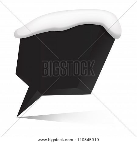 Three-d speech bubble for your message