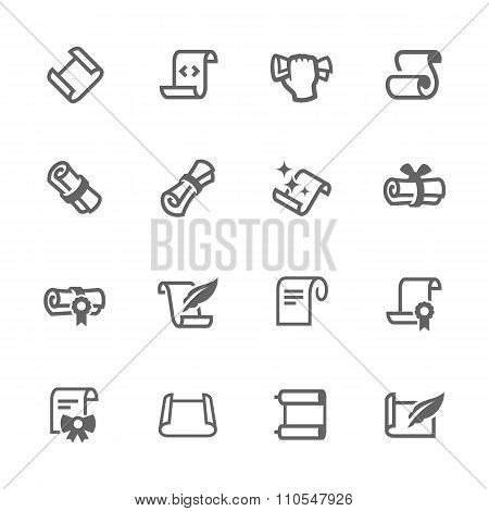 Simple Scrolls and Papers Icons