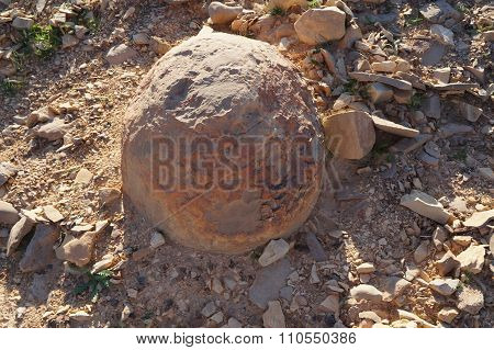 Spherical rocks in Nahal Keidar reserve