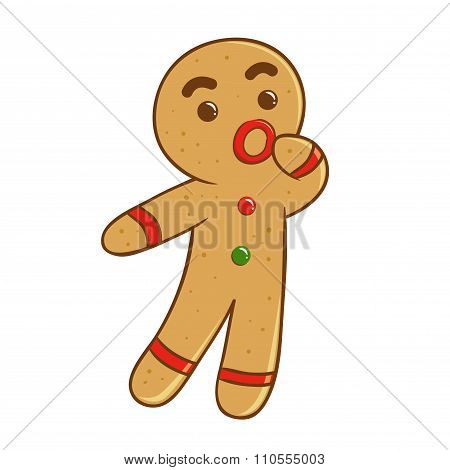 Ginger Bread Man Feeling Confused