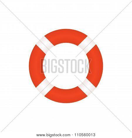 Lifebuoy icon, modern flat design style. Vector illustration, lifebelt symbol