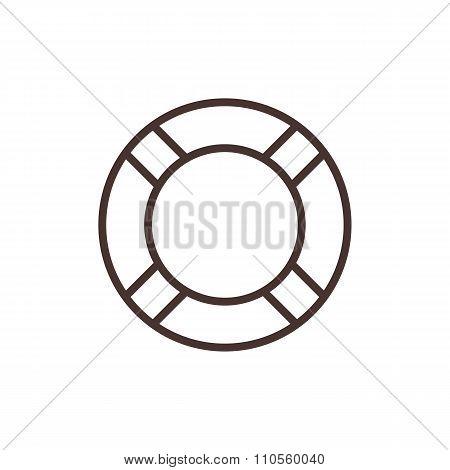 Lifebuoy outline icon, modern minimal flat design style. Vector illustration, lifebelt line symbol