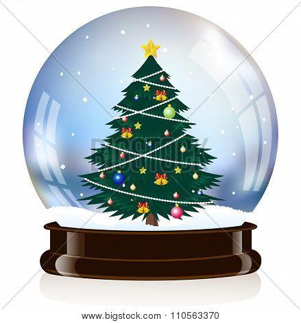Christmas toy snow globe