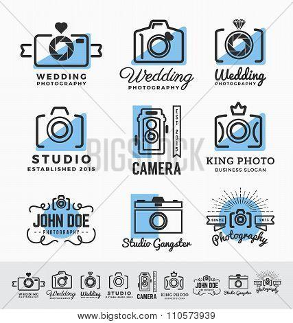 Set Of Photography And Camera Service Logo