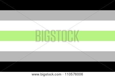 Agender pride flag in vector format. LGBT community flag. poster