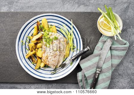Coalfish Filet with Chips