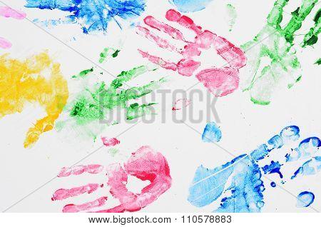 Background hand prints
