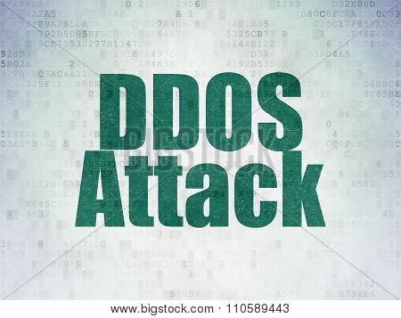 Security concept: DDOS Attack on Digital Paper background