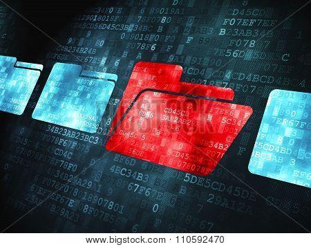 Finance concept: Folder on digital background