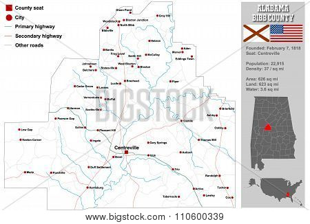 Bibb County in Alabama