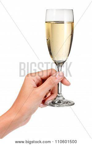 Hand Champagne Glass Toast