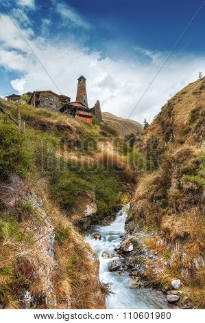 Tusheti National Park mountain village towers