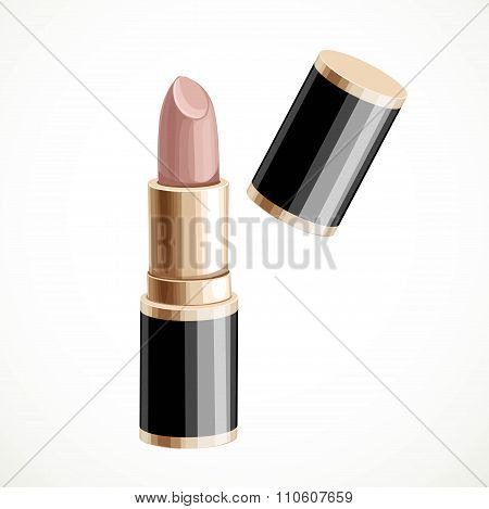 Bege Lipstick Isolated On A White Background