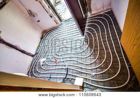 Floor Heating Instalation