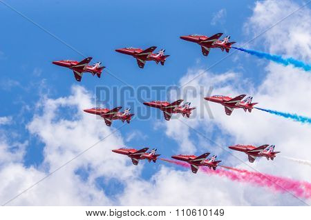 RAF Red Arrows Air Display