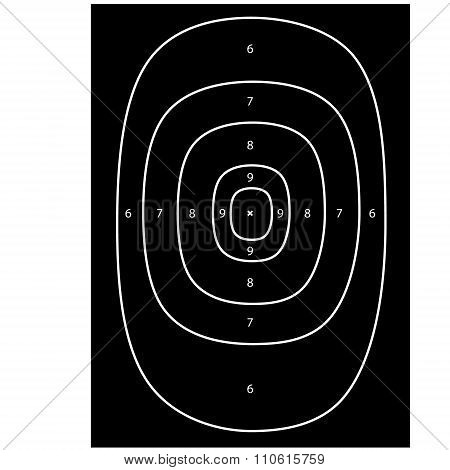 Black shooting target vector shooting range bullseye gun target poster