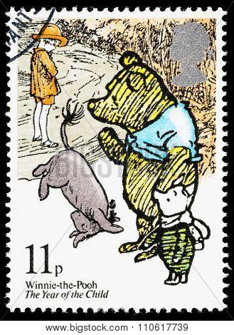 Britain Winnie The Pooh Postage Stamp