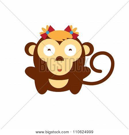 Vector Cartoon Monkey