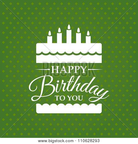 Happy birthday to you greeting card. Vector illustration.