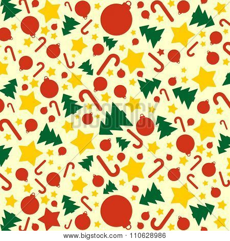 Colorful xmas vector background.