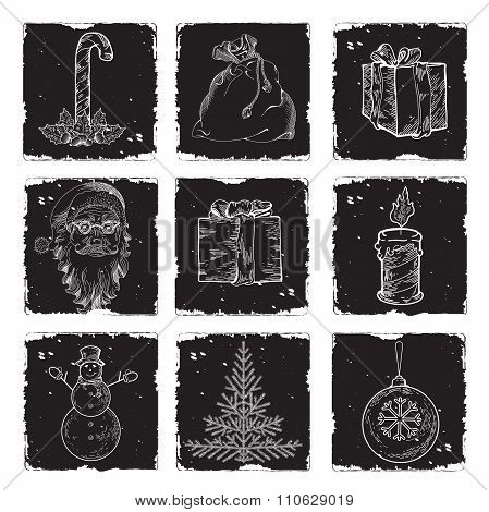 Lots Of Christmas And New Year Symbols