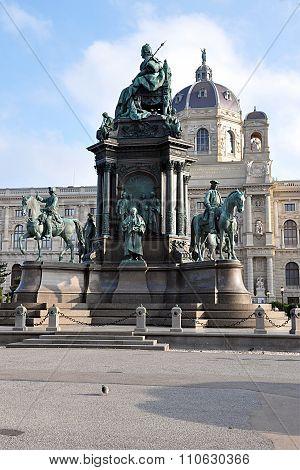 the statue in Vienna, Austria, Europe